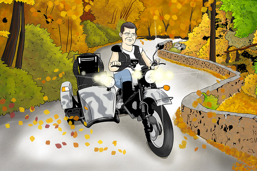 ural_motorcycle_and_rider_illustration